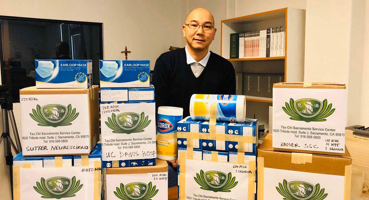 沙加緬度志工在短短兩天內募得的物資。攝影/陳碧惠