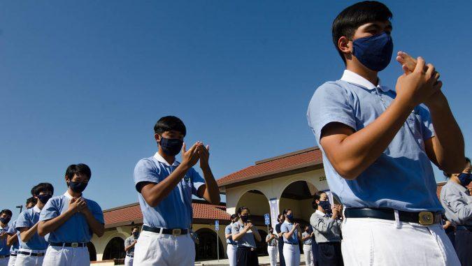 北加州慈濟少年志工整齊劃一。攝影/朱文廣