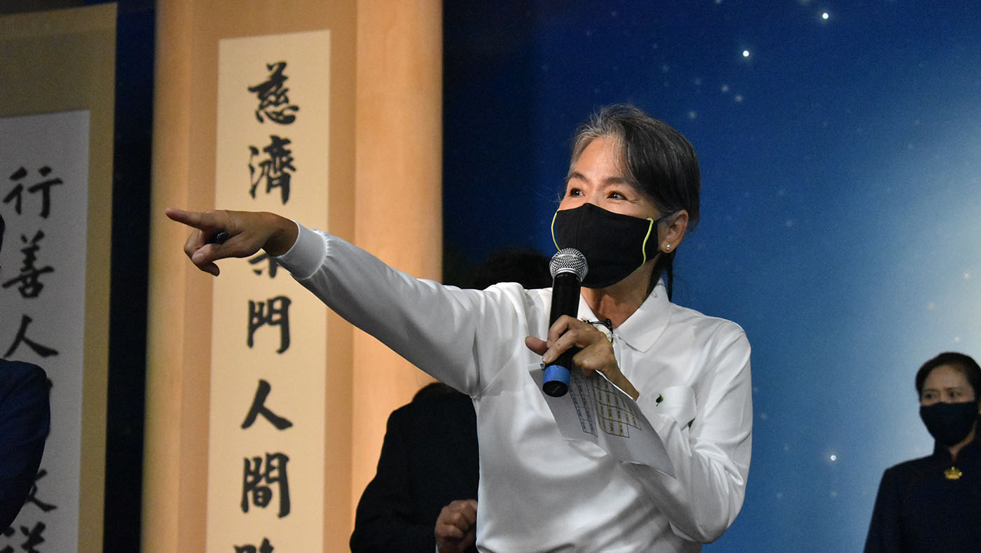 During the pandemic, a Tzu Chi volunteer named Jingyi Lee coordinated the events at Tzu Chi USA's National Headquarters and helped make several large-scale events possible online. Photo/Wesley Tsai