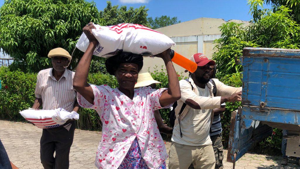 賑災團借力使力,讓挨餓的受災戶不再需要等待。圖片來源/台灣技術團