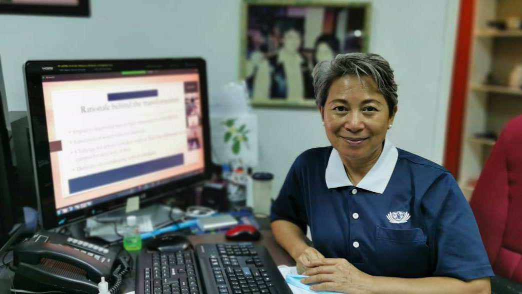 The first online demo of self-learning character education courses. Photo/Courtesy of Tzu Chi Education Foundation