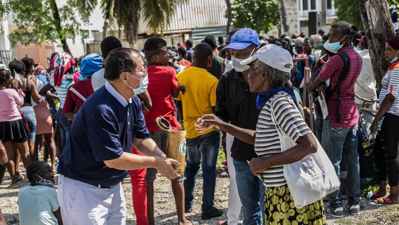 TzuChiUSA-07132021-b2-4-Rice-Distributions-Resume-Haiti-Relieving-Hunger- Despair