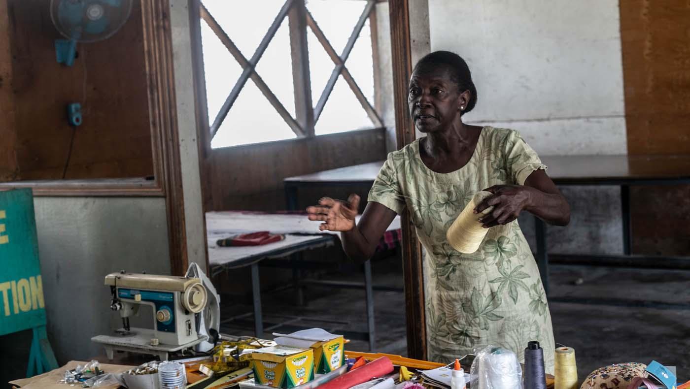 Veronique Supplice is a strict teacher. Photo/Keziah Jean