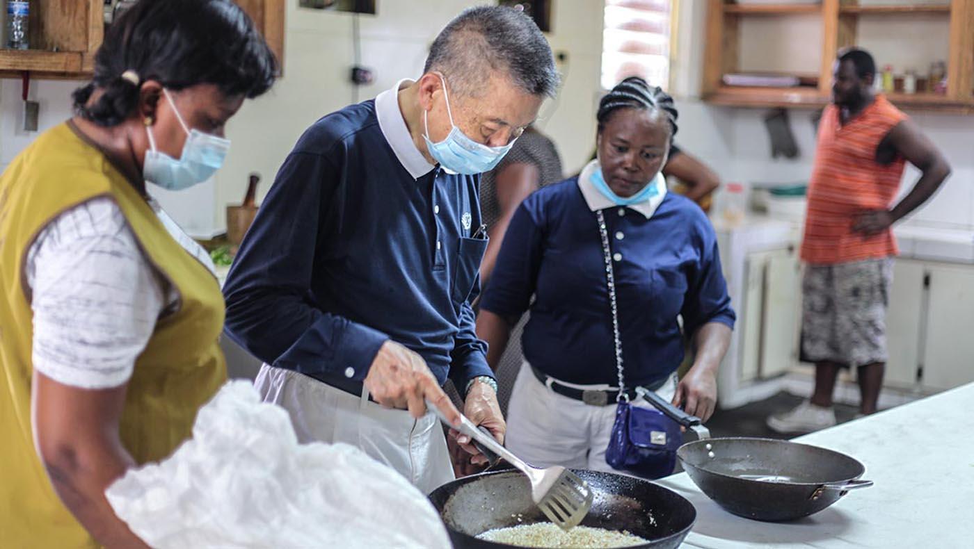 3-s2-1-TCC-TzuChi-Teamwork Reigns in Haiti During Tzu Chi's 2021 Earthquake Relief Mission